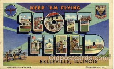 LLT001253 - Scott Field, Belleville, Illinois Large Letter Town Postcard Postcards