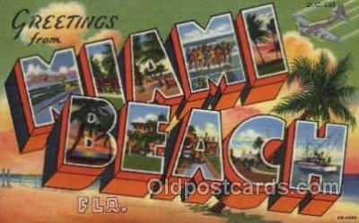 LLT001272 - Miami Beach, Florida Large Letter Town Towns Post Cards Postcards