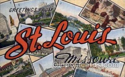 LLT001278 - St. Louis, Missouri Large Letter Town Towns Post Cards Postcards