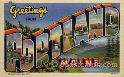 LLT001279 - Portland, Maine Large Letter Town Towns Post Cards Postcards