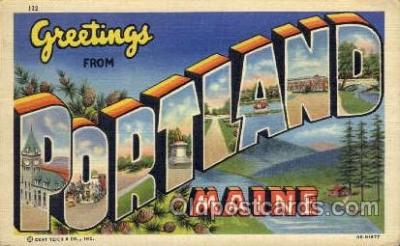 LLT001300 - Portland, Maine Large Letter Town Towns Post Cards Postcards