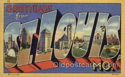 LLT001303 - St. Louis, Missouri Large Letter Town Towns Post Cards Postcards