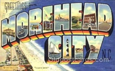 LLT001342 - Greetings From Morehead City, North Carolina, USA Large Letter Town Towns Postcard Postcards
