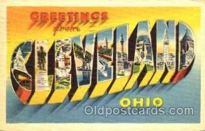 LLT001346 - Greetings From Cleaveland, Ohio, USA Large Letter Town Towns Postcard Postcards