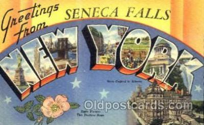 LLT001399 - Greetings From Seneca Falls,  New York, USA Large Letter Town Towns Postcard Postcards