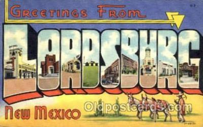 LLT001427 - Greetings From Lordsburg, New Mexico, USA Large Letter Town Towns Postcard Postcards