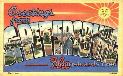 LLT001756 - Greetings From St. Petersburg, Florida USA Large Letter Town Towns Postcard Postcards