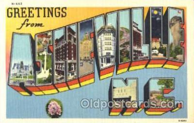 LLT001818 - Ashville, North Carolina Large Letter Town Postcard Postcards