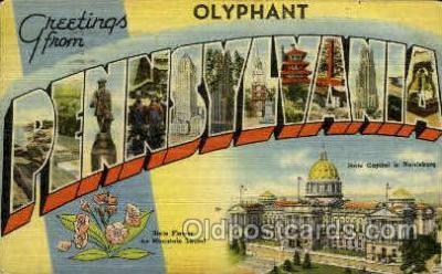 LLT001869 - Olyphant, Pennsylvania, USA Large Letter Towns  Postcard Postcards