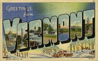 LLT001872 - Vermont,  USA Large Letter Towns  Postcard Postcards