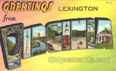 LLT100008 - Virginia, USA Large Letter Town, Towns, Postcard Postcards