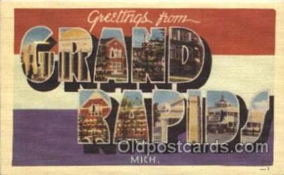 LLT100012 - Grand Rapids, Mich, USA Large Letter Town, Towns, Postcard Postcards