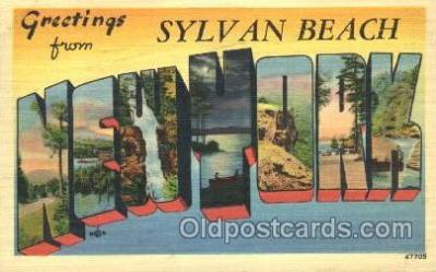 LLT100016 - Sylvan Beach, New York, USA Large Letter Town, Towns, Postcard Postcards