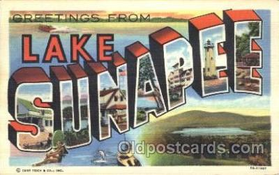 LLT100017 - Lake Sunapee, USA Large Letter Town, Towns, Postcard Postcards