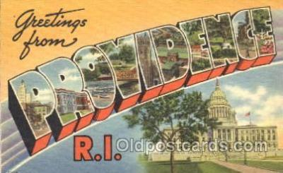 LLT100024 - Providence, R.I., USA Large Letter Town, Towns, Postcard Postcards