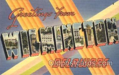 LLT100030 - Wilmincton, Delaware, USA Large Letter Town, Towns, Postcard Postcards