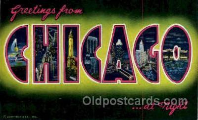 LLT100033 - Chicago, Usa Large Letter Town, Towns, Postcard Postcards