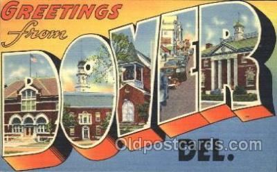 LLT100034 - Dover, Del, Usa Large Letter Town, Towns, Postcard Postcards