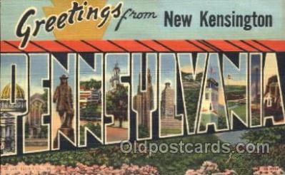 LLT100036 - New Kensington, Penneylvania, Usa Large Letter Town, Towns, Postcard Postcards