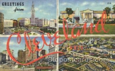 LLT100048 - Cleveland, Ohio, Usa Large Letter Town, Towns, Postcard Postcards