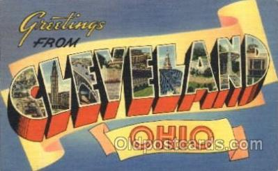 LLT100060 - Cleveland, Ohio, Usa Large Letter Town, Towns, Postcard Postcards
