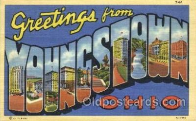 LLT100064 - Youngstown, Ohio, USA Large Letter Town, Towns, Postcard Postcards