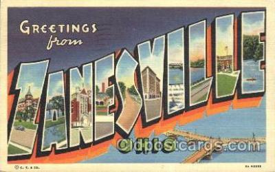 LLT100065 - Zanesville, Ohio, Usa Large Letter Town, Towns, Postcard Postcards
