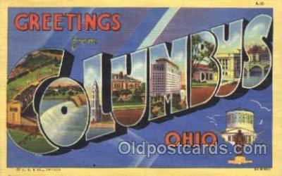 LLT100067 - Columbus, Ohio, Usa Large Letter Town, Towns, Postcard Postcards