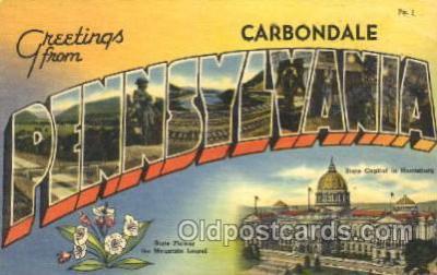 LLT100069 - Carbondale, Pennsylvania, Usa Large Letter Town, Towns, Postcard Postcards