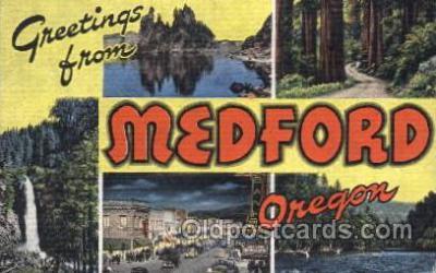 LLT100073 - Medford, oregon, Usa Large Letter Town, Towns, Postcard Postcards