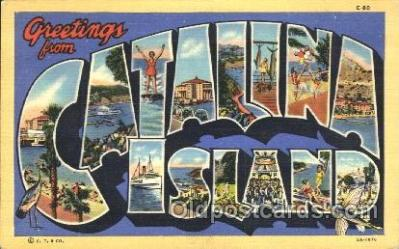 LLT100077 - Catalina Island, Usa Large Letter Town, Towns, Postcard Postcards