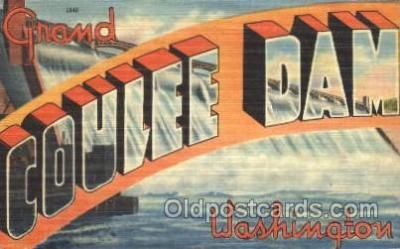 LLT100081 - Coulee Dam, washington, usa Large Letter Town, Towns, Postcard Postcards