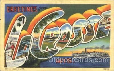 LLT100093 - La crosse, Wis, USA Large Letter Town, Towns, Postcard Postcards