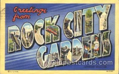 LLT100098 - Rock city gardens, USA Large Letter Town, Towns, Postcard Postcards