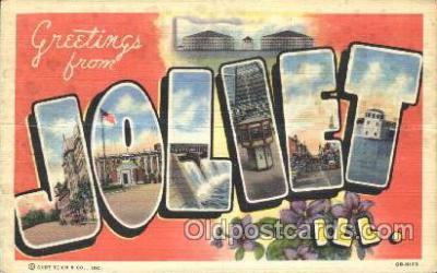 LLT100110 - Joliet, Illinois, USA Large Letter Town, Towns, Postcard Postcards