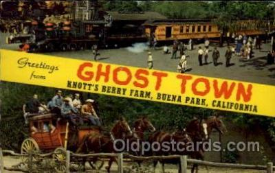 LLT1001101 - Ghost Town, Knott's Berry Farm, Buena Park, California Large Letter Town Towns Post Cards Postcards