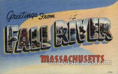 LLT1001106 - Fall River, Massachusetts Large Letter Town Towns Post Cards Postcards