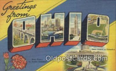 LLT200065 - Ohio, OH, USA Large Letter Town Postcard Post Card Old Vintage Antique