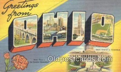 LLT200066 - Ohio, OH, USA Large Letter Town Postcard Post Card Old Vintage Antique