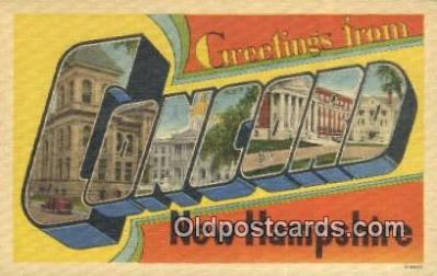 LLT200185 - Concord, New Hampshire, USA Large Letter Town Postcard Post Card Old Vintage Antique