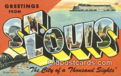 LLT200212 - St. Louis, MO, USA Large Letter Town Postcard Post Card Old Vintage Antique