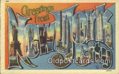 LLT200309 - New York City, USA Large Letter Town Postcard Post Card Old Vintage Antique