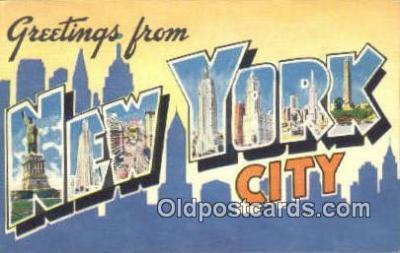 LLT200317 - New York City, USA Large Letter Town Postcard Post Card Old Vintage Antique