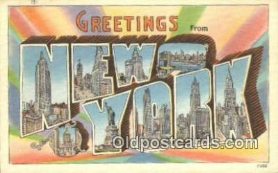 LLT200337 - New York, USA Large Letter Town Postcard Post Card Old Vintage Antique