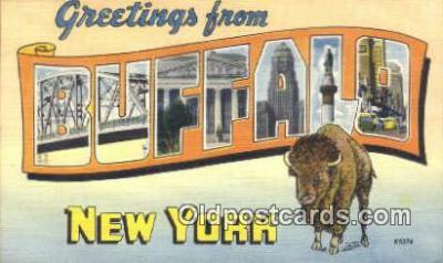 LLT200359 - Buffalo, New York, USA Large Letter Town Postcard Post Card Old Vintage Antique