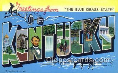 LLT200372 - Kentucky, USA Large Letter Town Postcard Post Card Old Vintage Antique