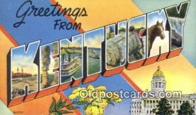 LLT200374 - Kentucky, USA Large Letter Town Postcard Post Card Old Vintage Antique