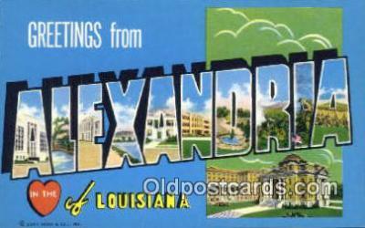 LLT200383 - Alexandria, Louisiana, USA Large Letter Town Postcard Post Card Old Vintage Antique