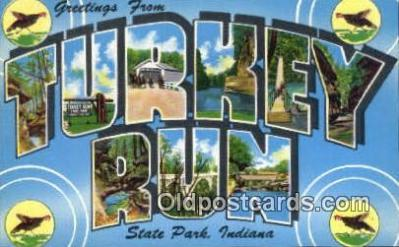 Turkey Run State Park, Indiana, USA Postcard Post Card