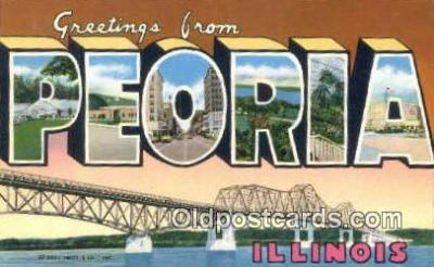 Peoria, Illinois, USA Postcard Post Card